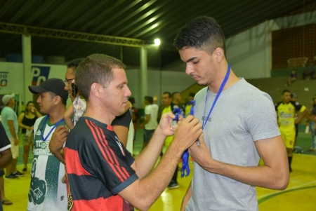 Final do Voley boll e Futsal no Ginásio do Esportes